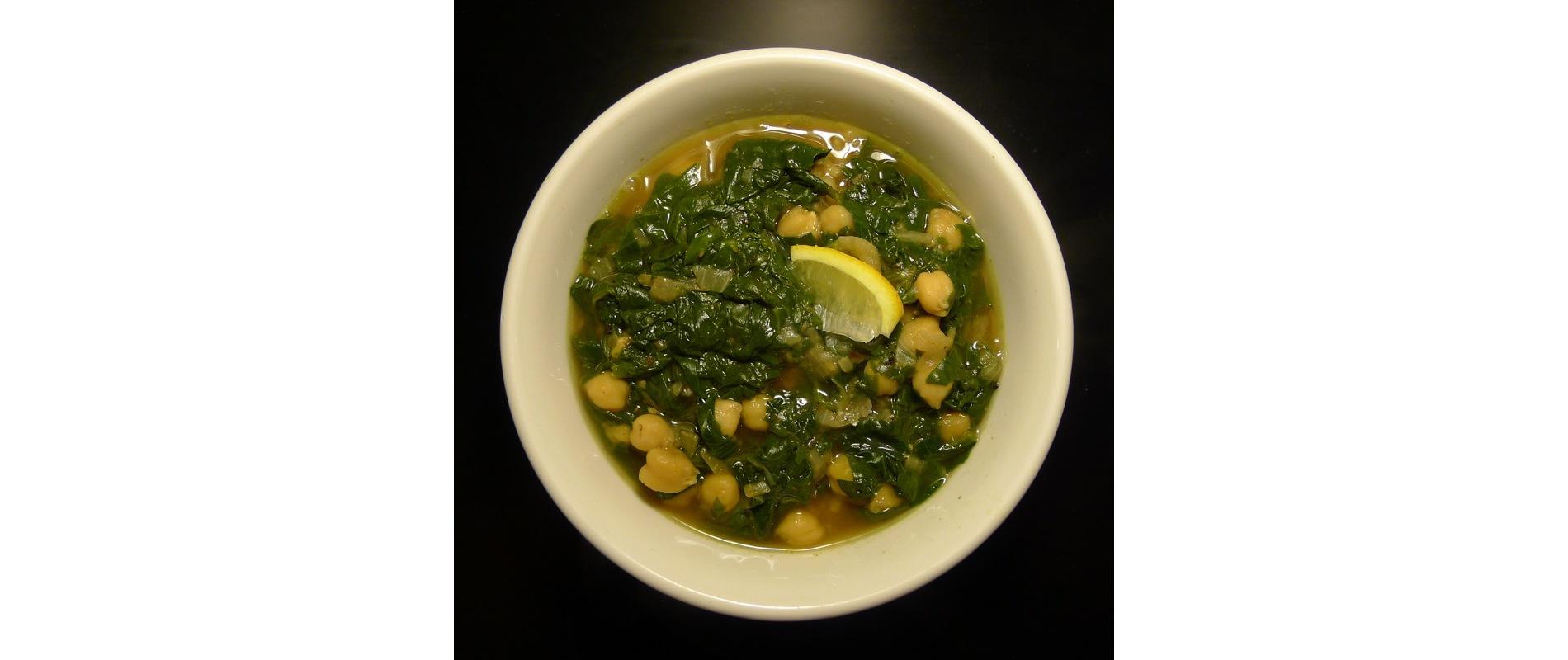 Yakhni Sabanekh Ma Hummus